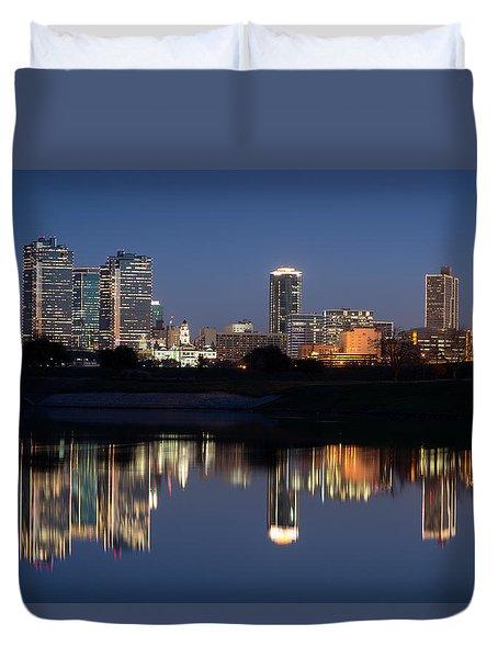Fort Worth Skyline 020915 Duvet Cover