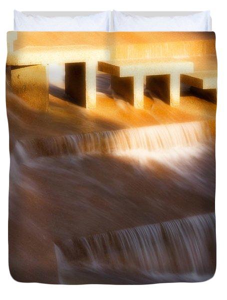 Fort Worth Water Gardens Steps Duvet Cover