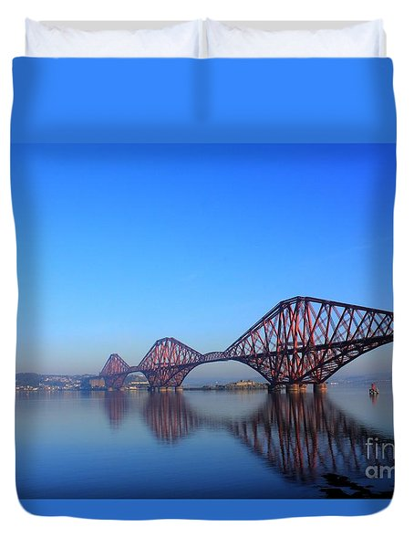 Forth Rail Bridge Duvet Cover