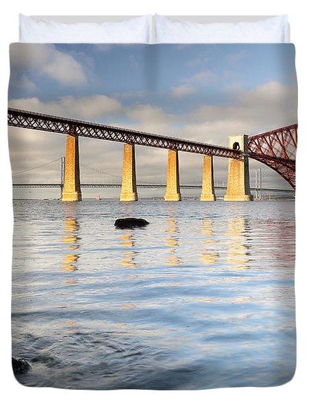 Forth Railway Bridge Duvet Cover by Grant Glendinning