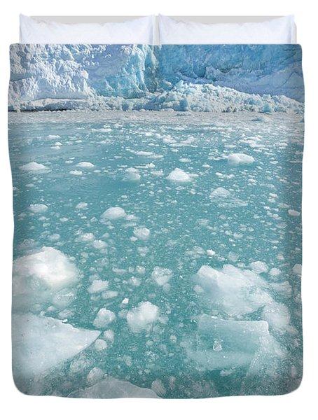 Fortuna Glacier Descending To Antarctic Duvet Cover
