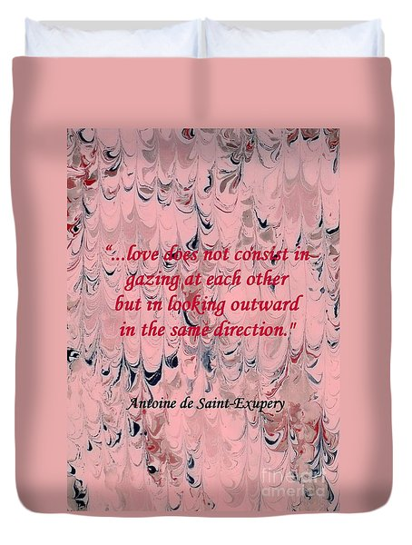 Forward Looking Love Duvet Cover by Barbie Corbett-Newmin