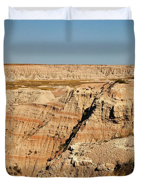 Fossil Exhibit Trail Badlands National Park Duvet Cover