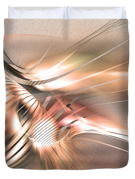 Found By Nile - Abstract Art Duvet Cover