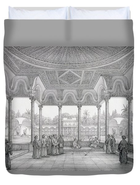 Fountain And Kiosk Of The Garden Of Choubrah Duvet Cover