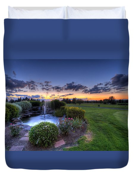 Salem Ohio Golf Duvet Cover