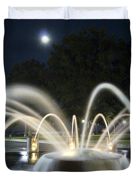 Fountain Charleston Waterfront Park Duvet Cover