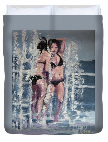 Fountain Fun Duvet Cover