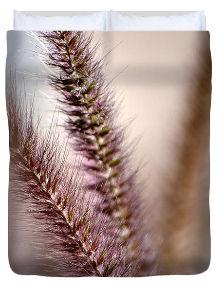 Fountain Grass Duvet Cover by Deb Halloran