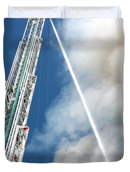 Four Alarm Blaze 001 Duvet Cover by Lon Casler Bixby