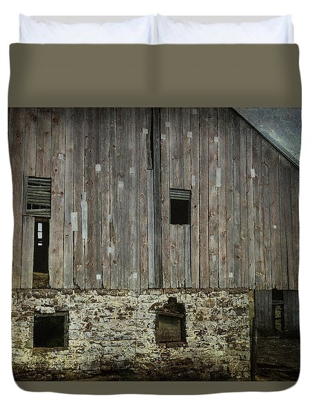 Four Broken Windows Duvet Cover by Joan Carroll
