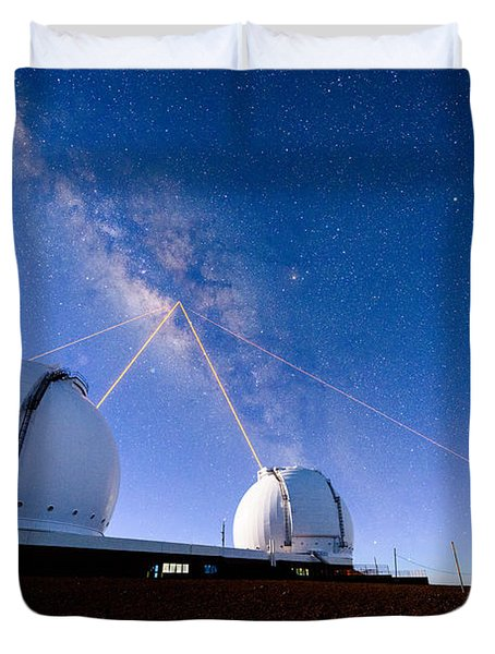 Four Lasers Attacking The Galactic Center Duvet Cover