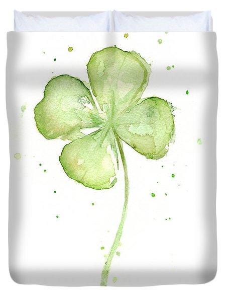 Four Leaf Clover Lucky Charm Duvet Cover