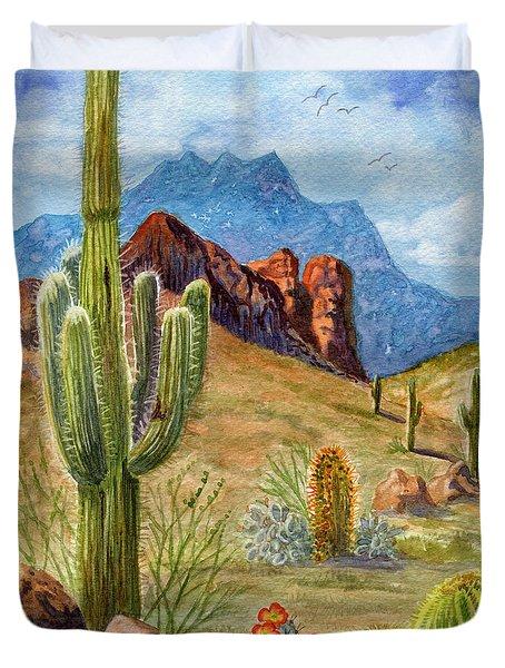 Four Peaks Vista Duvet Cover