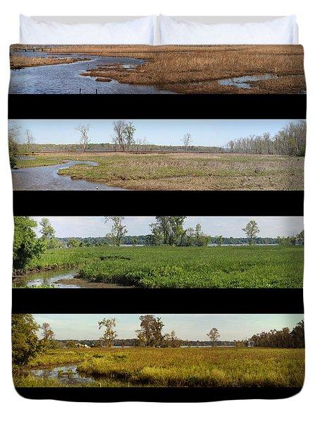 Four Seasons Along The Potomac Duvet Cover