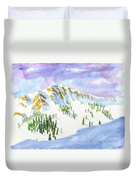 Four Sisters At Snowbasin Duvet Cover