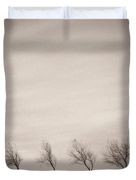 Four Trees Duvet Cover by Dave Bowman