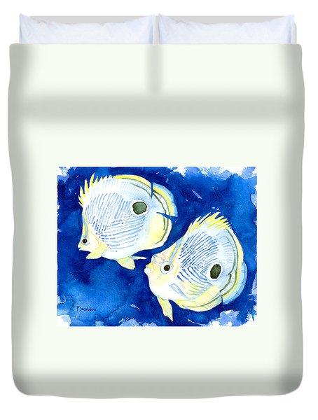 Foureye Butterflyfish Duvet Cover