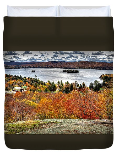 Fourth Lake From Above Duvet Cover by David Patterson