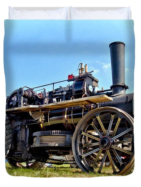 Duvet Cover featuring the photograph Fowler Ploughing Engine by Paul Gulliver