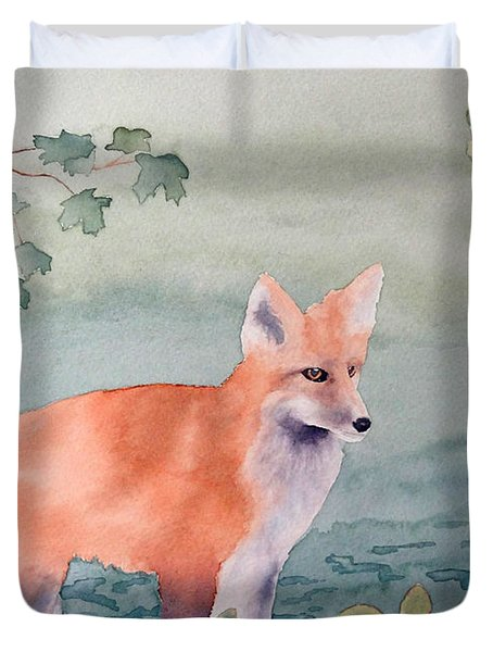 Fox And Birch Duvet Cover