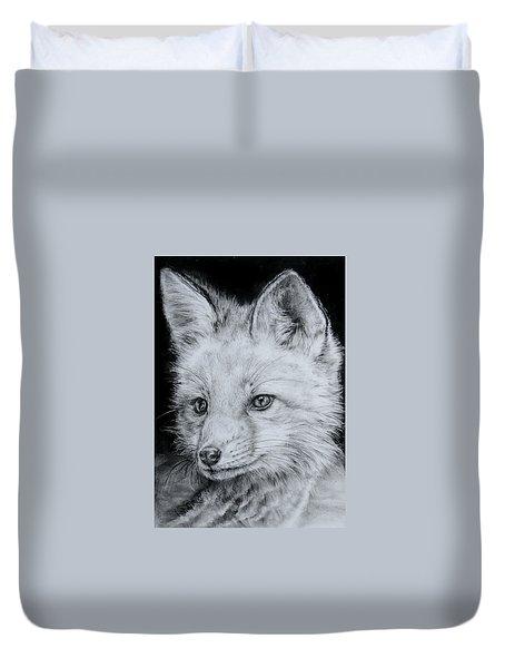 Fox Kit Duvet Cover by Jean Cormier