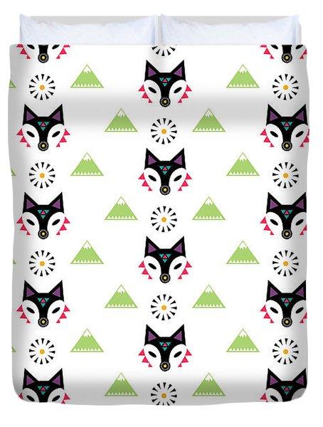 Fox Mountain Duvet Cover by Susan Claire