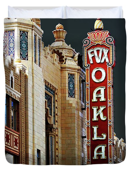 Fox Theater . Oakland California Duvet Cover