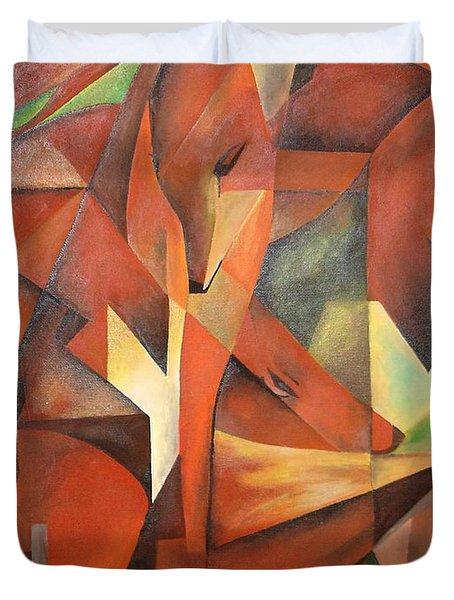 Foxes Duvet Cover