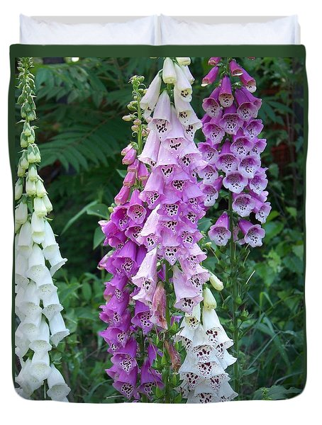 Foxglove After The Rains Duvet Cover
