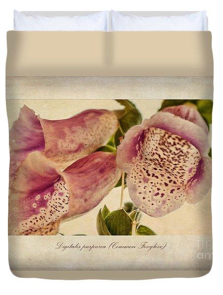 Foxglove Textures Duvet Cover