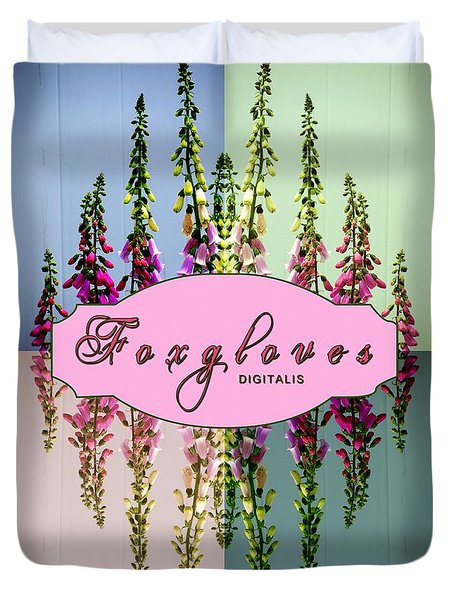 Foxgloves Times 4 Duvet Cover