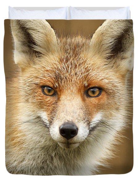 Foxy Face Duvet Cover