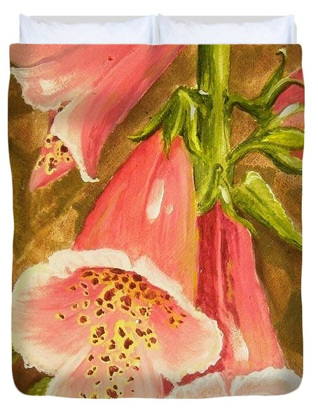 Foxy Foxglove Of Williamsburg Duvet Cover
