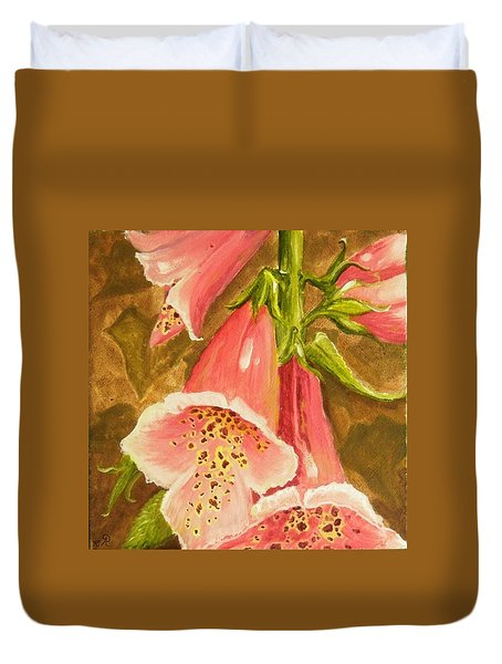 Foxy Foxglove Of Williamsburg Duvet Cover