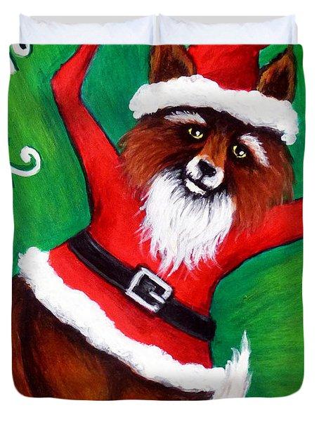 Foxy Santa Duvet Cover