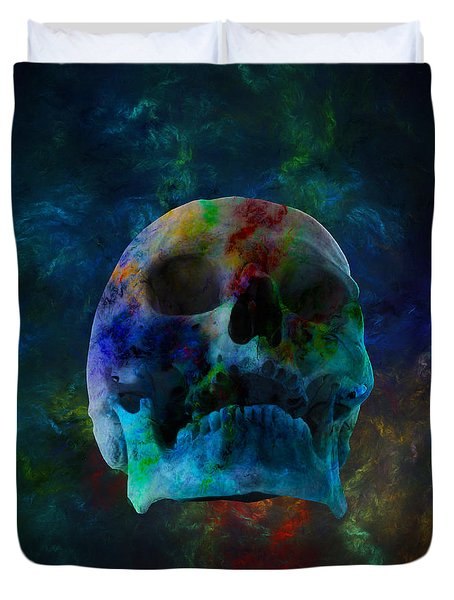Fracskull 3 Duvet Cover by Chris Thomas