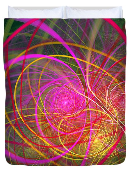 Fractal - Abstract - Loopy Doopy Duvet Cover by Mike Savad