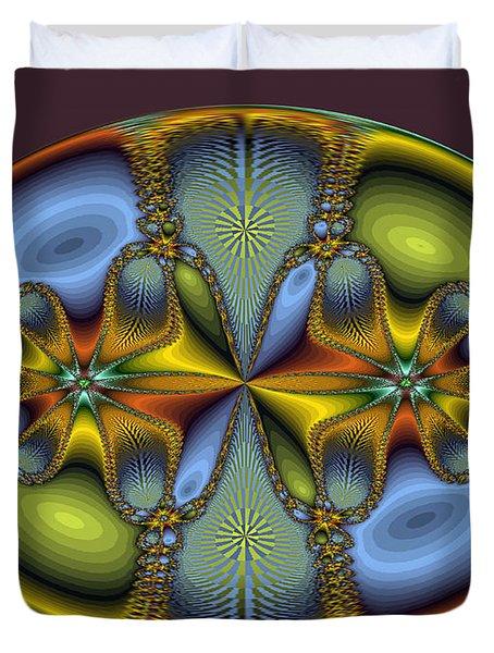 Fractal Art Egg Duvet Cover