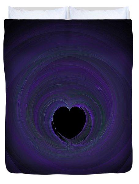 Duvet Cover featuring the digital art Fractal Blue by Henrik Lehnerer