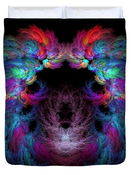 Fractal - Christ - Angels Wings Duvet Cover by Mike Savad