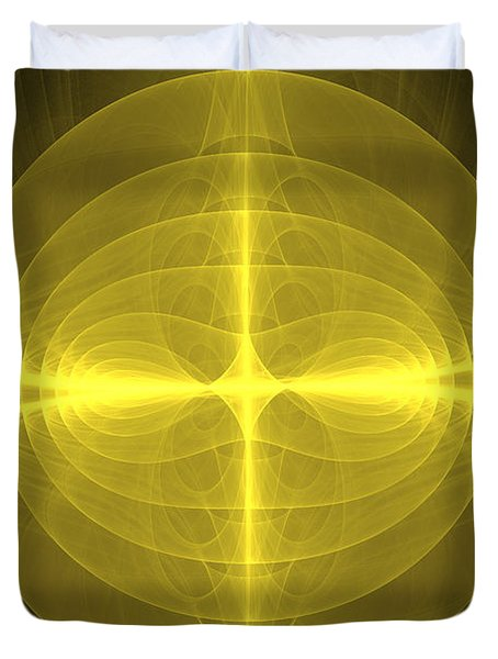 Fractal - Christ - Holy Cross Duvet Cover by Mike Savad