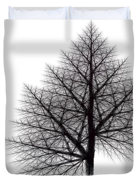 Fractal Essence Of A Tree Duvet Cover