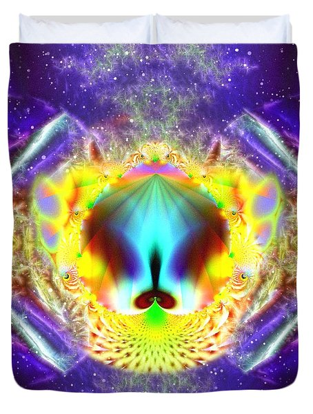 Duvet Cover featuring the digital art Fractal Expressions by Mario Carini