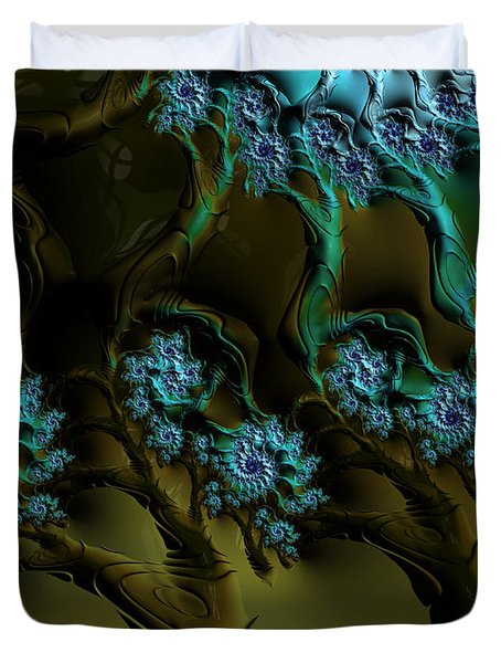 Fractal Forest Duvet Cover by GJ Blackman