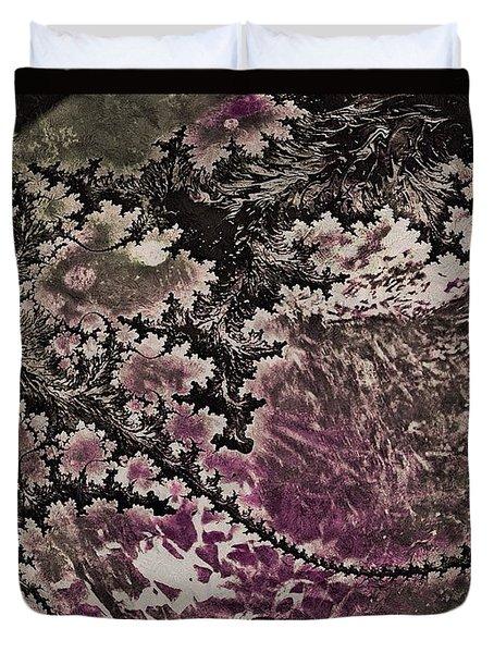 Fractal Moon Duvet Cover by Susan Maxwell Schmidt