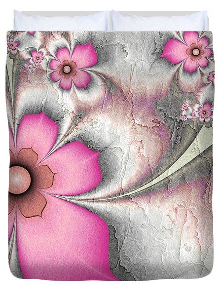 Fractal Nostalgic Flowers 2 Duvet Cover