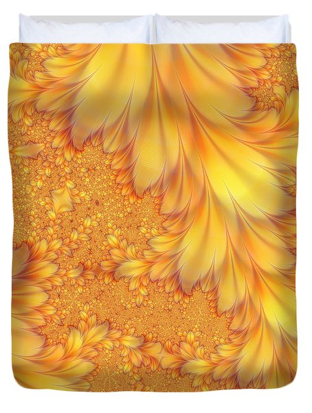 Fractals Of A Feather Duvet Cover