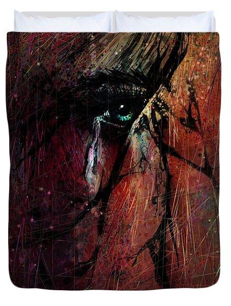 Fracture Duvet Cover by Rachel Christine Nowicki