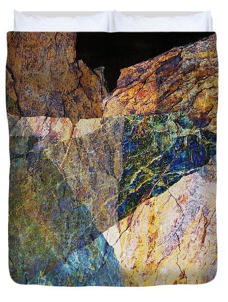 Fracture Xxvi Duvet Cover by Paul Davenport